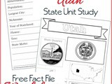 Utah State Fact File Worksheets