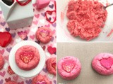 Valentine Strawberry Cake Mix Cookies