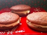 12 Days of Christmas Cookies: Day 9 Red Velvet Sandwich Cookies