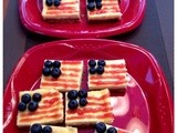 Guest Blogger Jaime's American Flag Cheesecake Bars