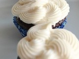 Hershey's Black Magic Cupcakes with Salted Cream Cheese Frosting