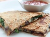 Spinach & Black Bean Quesadilla