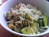 Whole Wheat Rotini with Grilled Chicken, Zucchini and Pesto