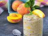 Juicy Peach Mint Chia Pudding