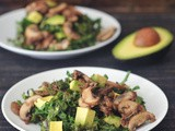 "Kale Salad with Warm ""Bacon"" Dressing"