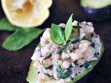 Lemon Basil Quinoa Stuffed Avocados