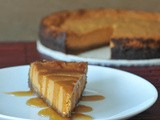 Maple cream pumpkin pie with buttery gingersnap crust