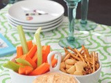 Roasted red pepper goat cheese dip