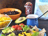Santa Fe Taco Salad with Cool Salsa Ranch