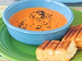 Tomato bisque with grilled cheese sliders #WeCare