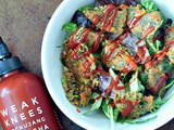 Veggie Burger Salad and Quick Dill Pickle Dressing