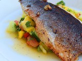 Sea Bass with Tropical Salsa