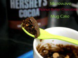 1 Minute Peanut Butter Chocolate Mug Cake