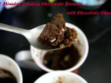 2 Minutes Microwave Drinking Chocolate Brownie with Chocolate Chunks