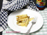 Baked Potatoes Fries | Cheesy Baked Potatoes Fries
