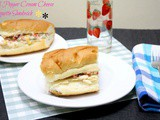 Bell Pepper Cream Cheese Sandwich ~ Healthy Breakfast for Kids