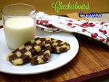Checkerboard Cookies | How to make Eggless Checkerboard Cookies