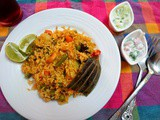 Chettinad Vegetable Biryani ~ Tamil Nadu Special | How to Make Chettinad Vegetable Biryani | Indian Cooking Challenge - February