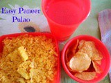 Easy Paneer Pulao for Kids Lunch Box
