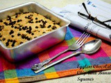 Eggless Chocolate Chip And Banana Squares ~ Egg Substitutes in Baking