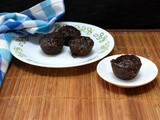 Eggless Chocolate Mini Muffins ~ Low Cal, No Butter and Vegan