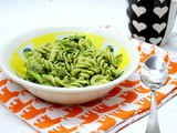Fusilli Pasta with Parsley Pesto and Roasted Broccoli