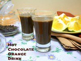 Hot Chocolate Drink with Orange