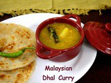 Malaysian Vegetable Lentil Curry | Vegetable Dal for Roti Canai