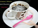 Microwave 1 Minute Dark Chocolate Mug Cake ~ Easy Mug Dishes