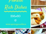 Protein Rich Dishes all of this September ~ Mega Marathon bm#80