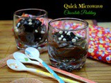 Quick Microwave Chocolate Pudding