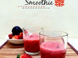 Red Smoothie | Strawberry Plum Smoothie