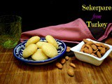 Sekerpare | Eggless Turkish Soft Cookies in Sugar Syrup