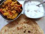 Simla Mirch Aloo Gobi Sabzi ~ Side Dish for Rotis