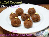Stuffed Coconut Khoya Ladoo