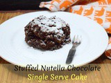 Stuffed Nutella Single Serve Microwave Chocolate Cake
