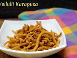 Vellulli Karapusa | How to make Garlic Kara Sev
