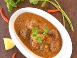 Kofta curry with baked meat balls