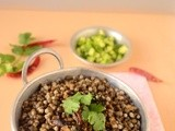 Talking about exercise with South beach diet phase 1 dish - Black mung bean salad / Karuppu payaru sundal