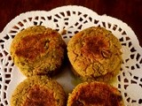 Vegetable patties / vadais - South beach diet revisited