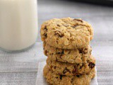 Eggless oatmeal raisin cookies recipe, Best oatmeal raisin cookies