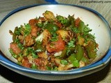 Gobi Masala (Cauliflower with Green Pepper)