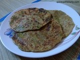 Green Peas Paratha (Mutter Paratha) (Stuffed)