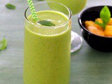 Mango green smoothie recipe | Mango coconut smoothie with spinach