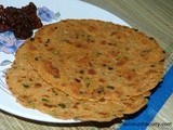 Potato-Green Oinons Paratha
