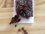 Banana nut Brownies|Christmas fruit brownies
