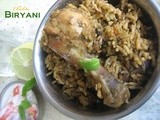 Chicken biryani with green spices - My 200th post