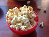 Home made popcorn with corn kernels
