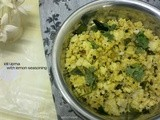Idli Upma with lemon seasoning