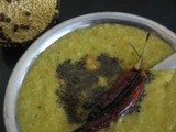 Moong dal with ridge gourd curry